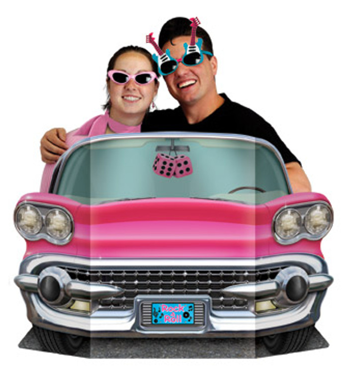 Rock & Roll Pink Convertible Photo Prop