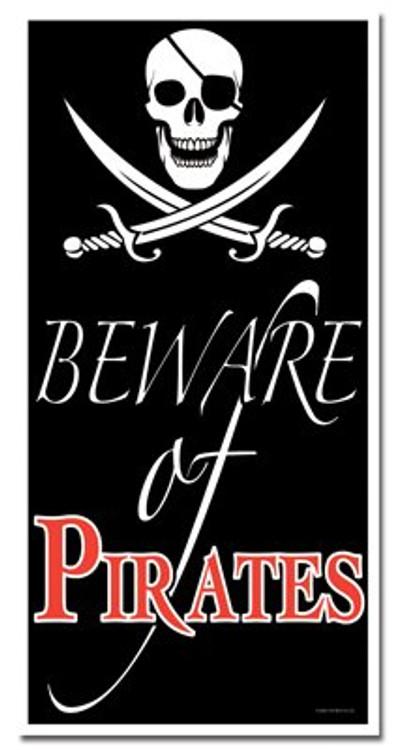 Pirate Door Cover Beware of Pirates