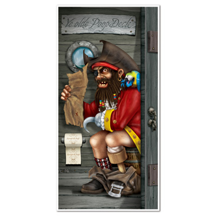 Pirate Restroom Door Cover