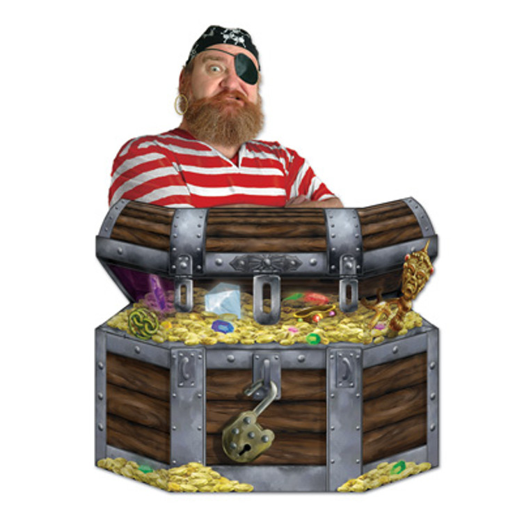 Pirate Treasure Chest Stand Up