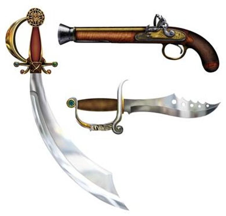 Pirate Weapon Cutouts