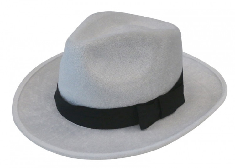 Fedora - Gangster Hat - White
