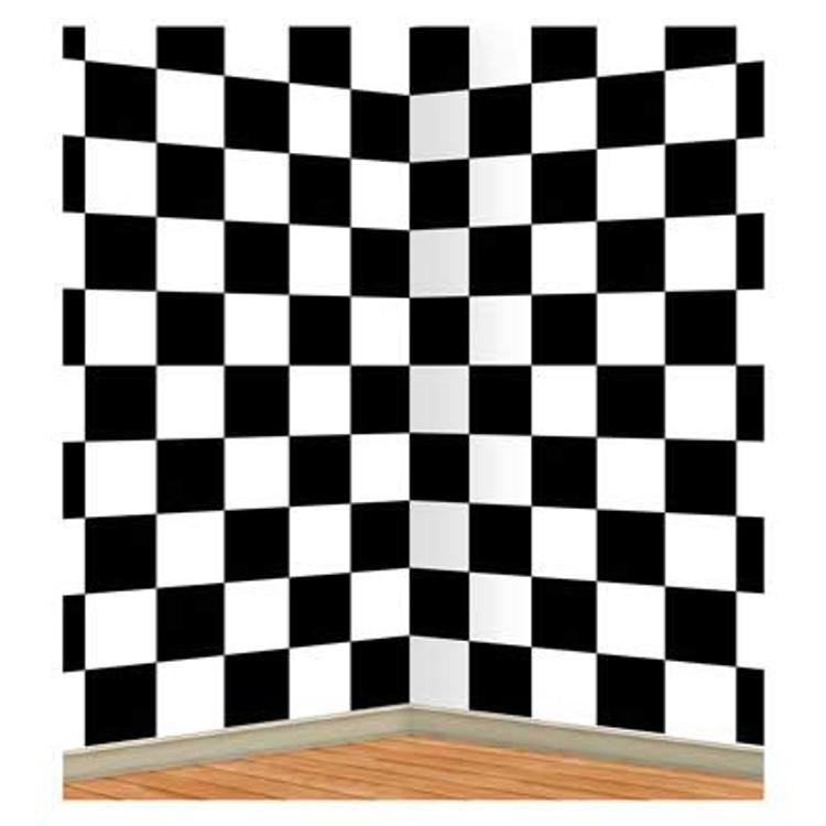 Rock & Roll Insta Theme Backdrop Checkered