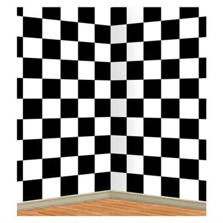 Rock & Roll Insta Theme Backdrop Checkered
