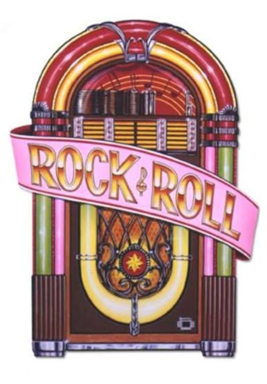 Rock & Roll Juke Box Cut Out