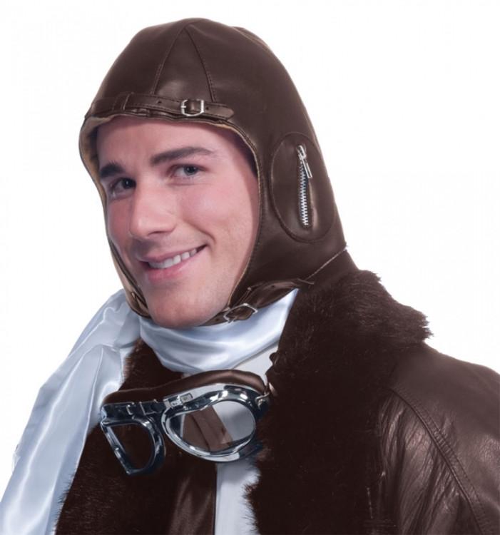 Aviator Helmet Faux Leather