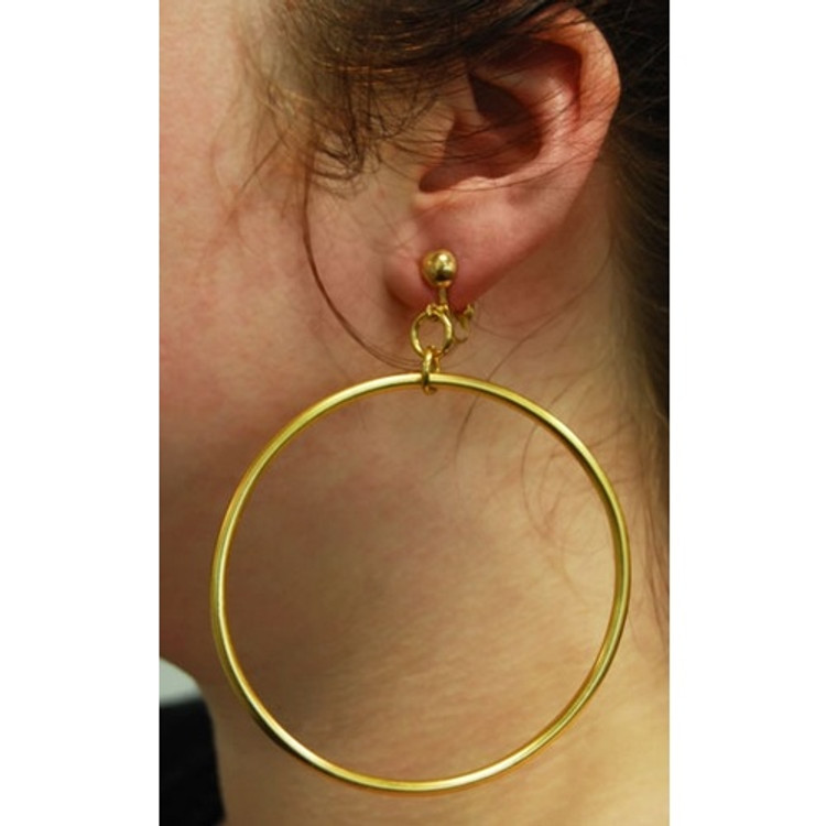 Hoop Earrings Gold Jumbo