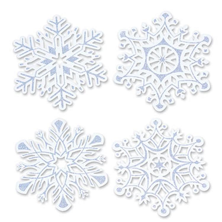 Snowflake Glittered Cutouts