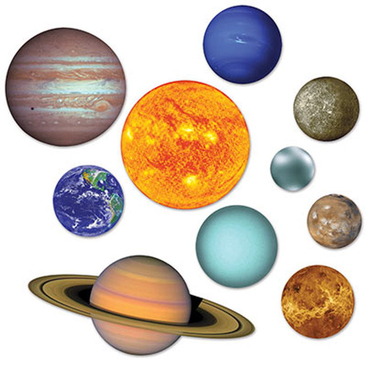 Space Solar System Cutouts