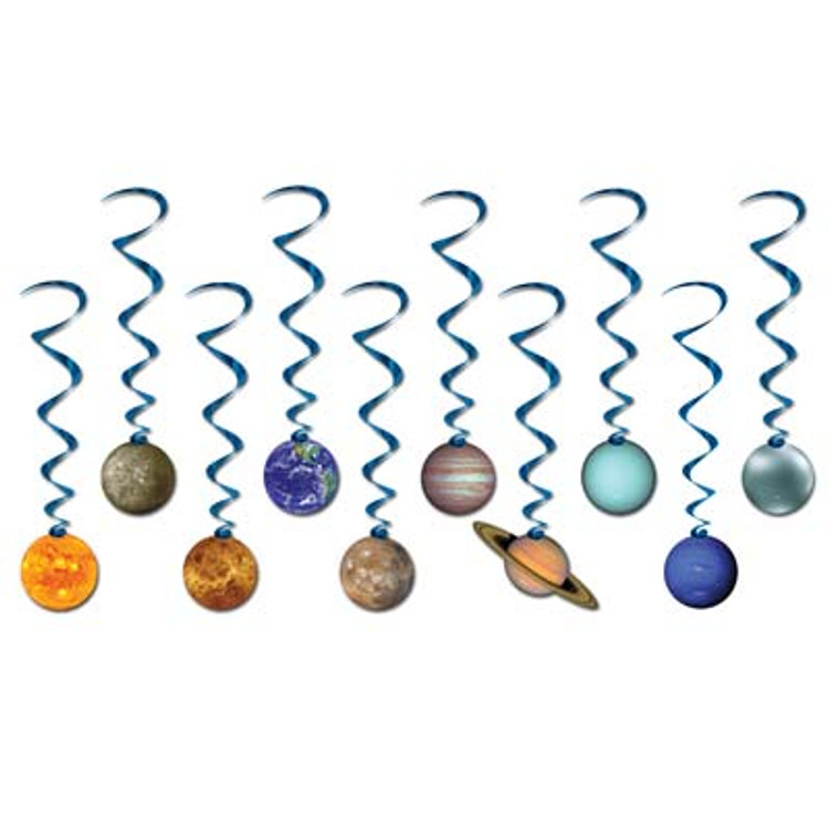 Space Solar System Whirls