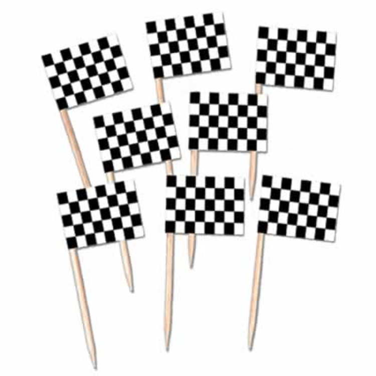 Racing Flag Toothpicks
