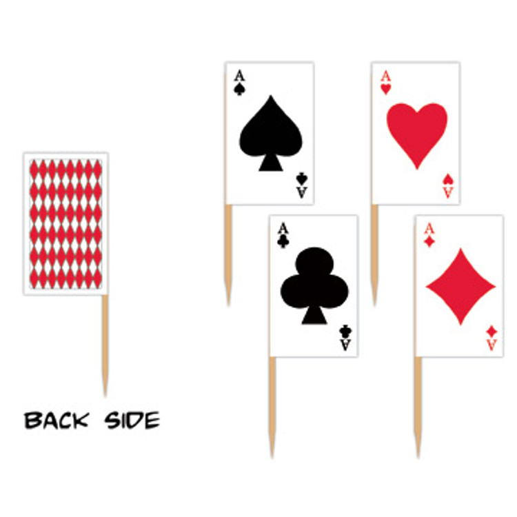 Playing Card Toothpicks