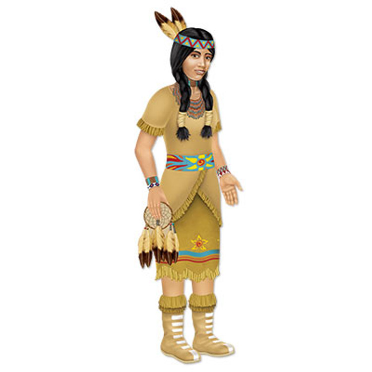 Indian Princess Jointed Cutout