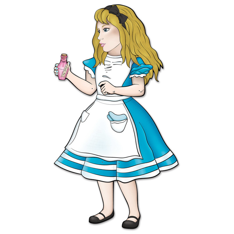 Alice in Wonderland Jointed Cutout