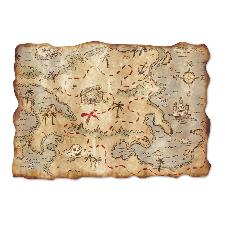 Pirate Treasure Map Jumbo