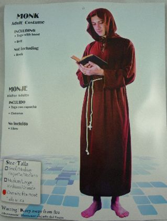 Monk Adult Costume