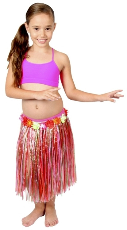 Hawaiian Hula Child Skirt - Multi