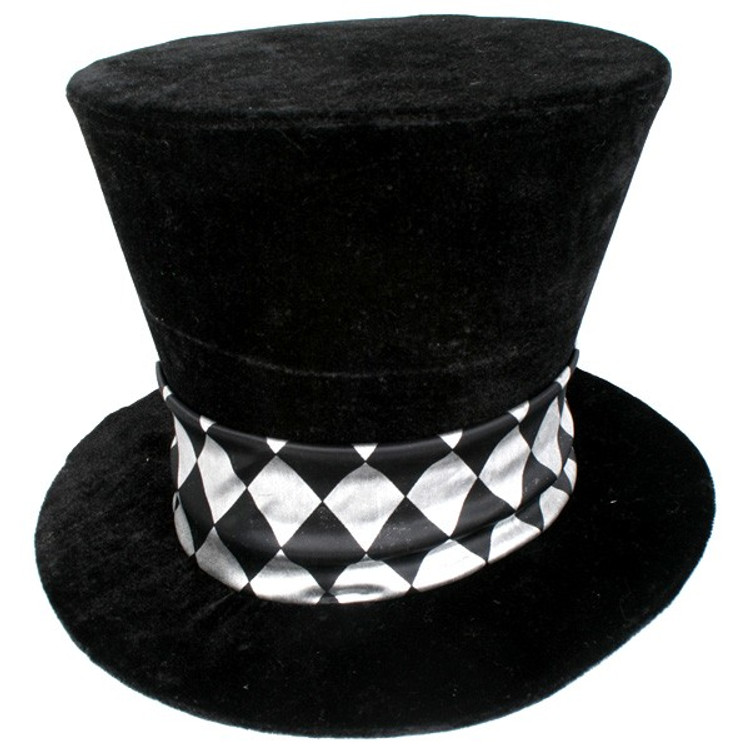 Alice in Wonderland Mad Hatter Black Top Hat