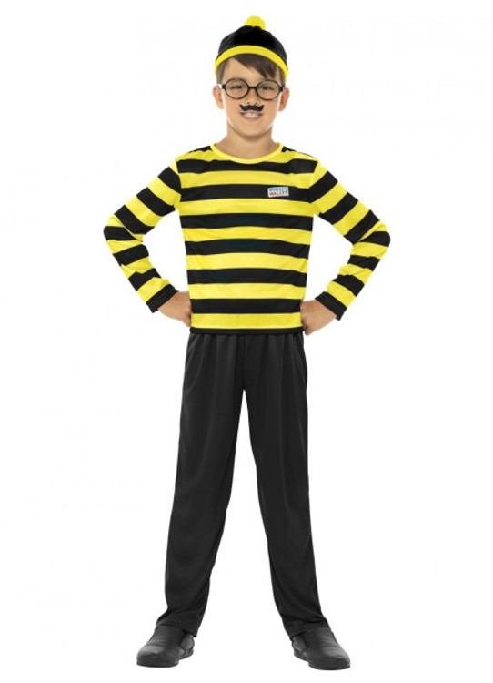 Wheres Wally Odlaw Kids Costume