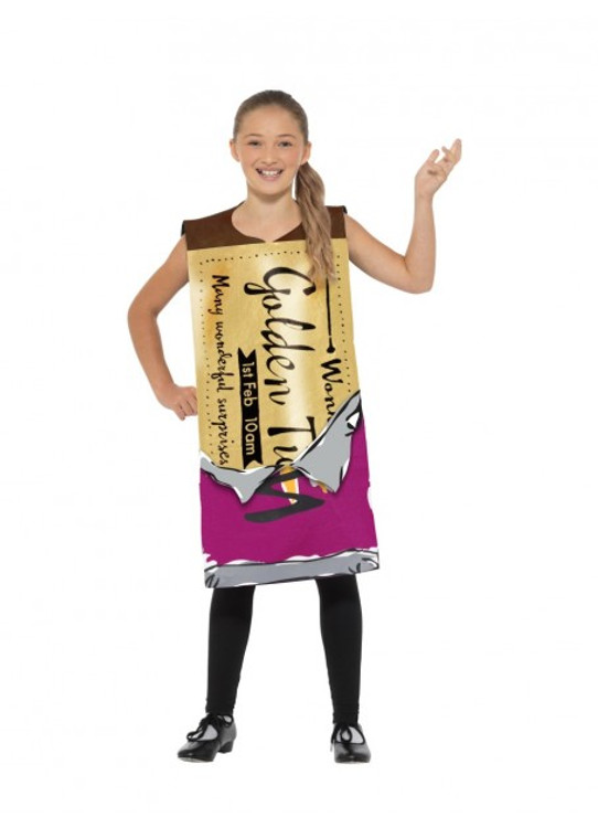 Roald Dahl Winning Wonka Bar Kids Costume