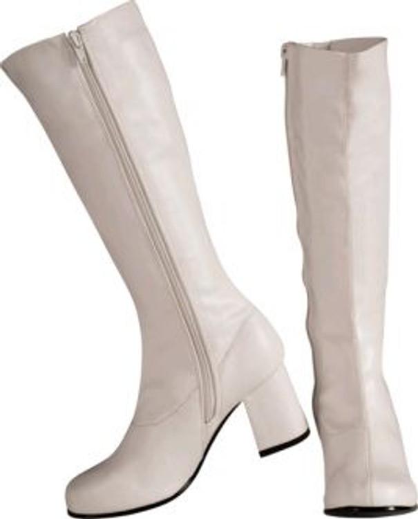 White GoGo Boots