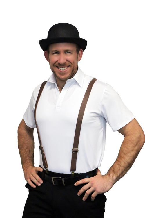 Braces Suspenders - Leather Look Oktoberfest