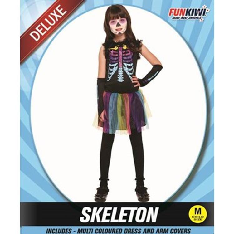 Skeleton Multi Coloured Kids Costume