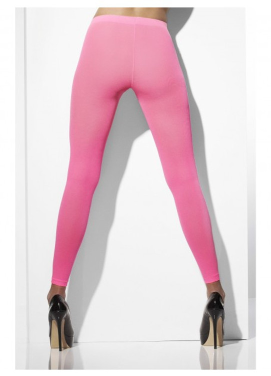 Footless Tights, Neon Pink