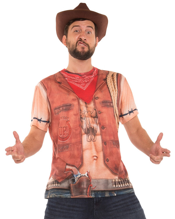 Cowboy T-Shirt Mens Costume