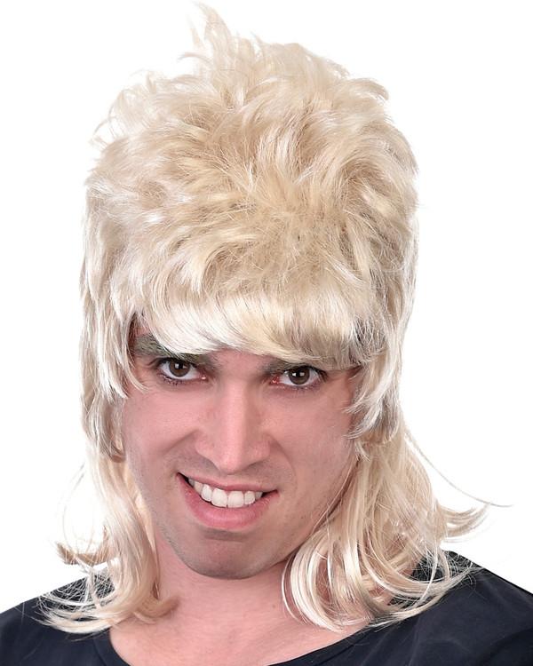 1980s Mullet Wig - Blonde Dazza