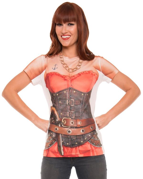 Pirate Lady T-Shirt Costume