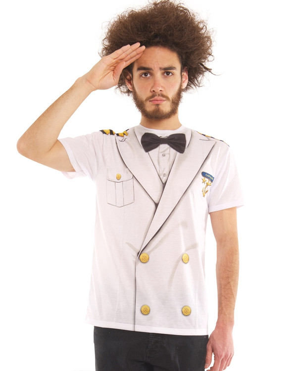 Captain T-Shirt Mens Costume