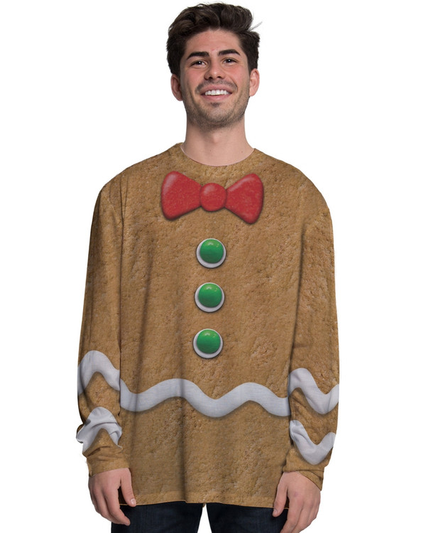 Gingerbread Man Long Sleeved Top