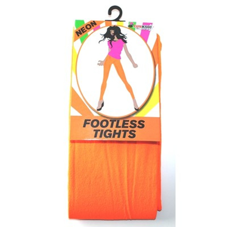 Footless Tights, Orange Neon