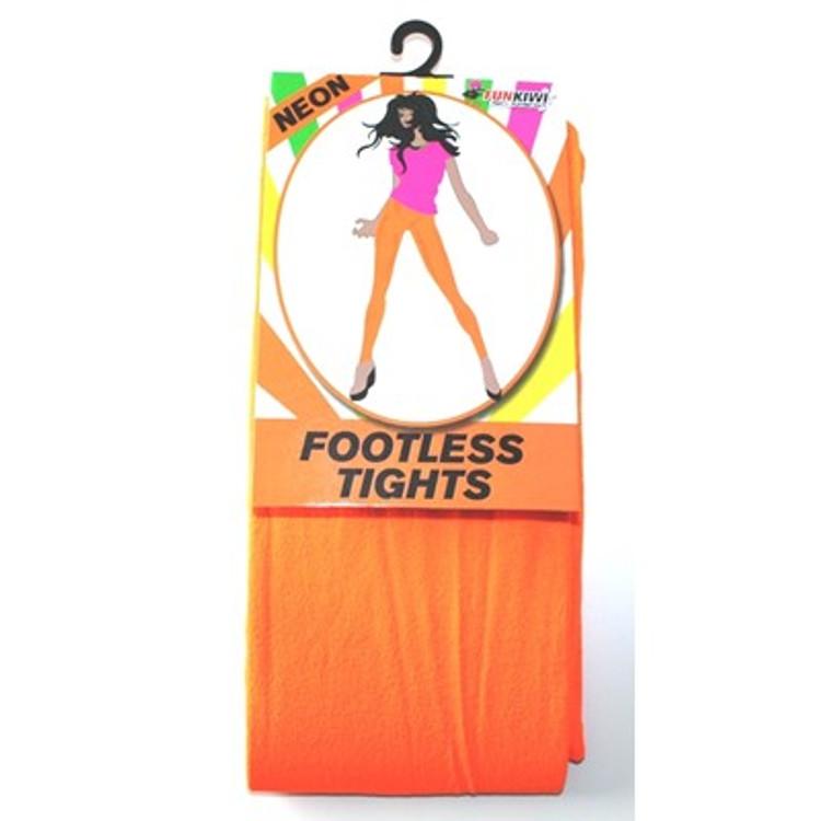 Footless Tights, Orange Neon