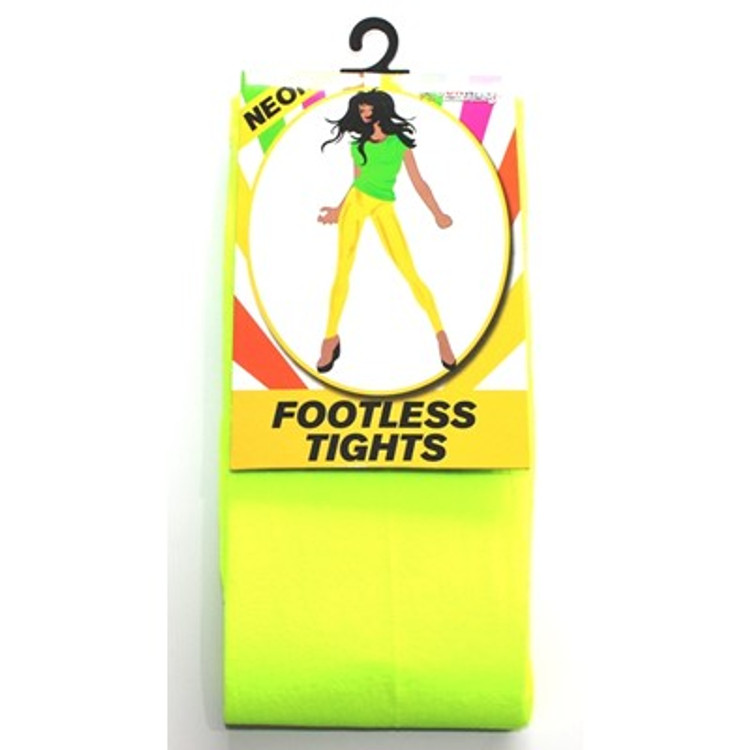 Footless Tights, Yellow Neon