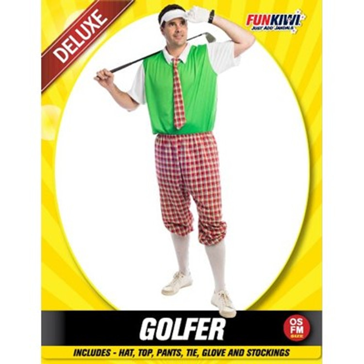 Golfer Men's Costume