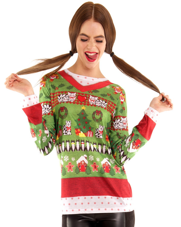 Christmas Sweater with Cats