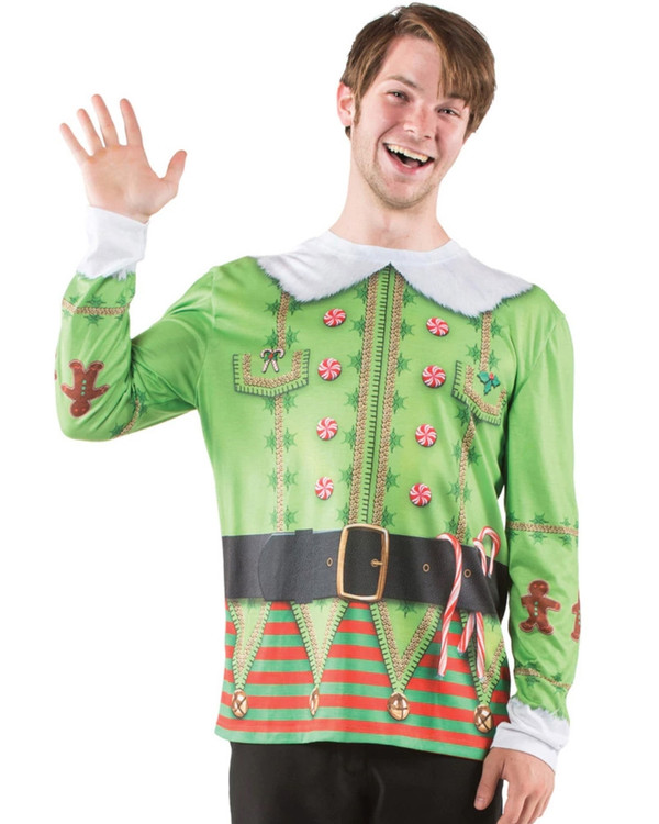 Christmas Elf Long Sleeve Top