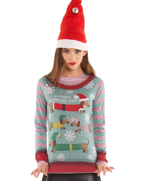 Christmas Wiener Wonderland Sweater
