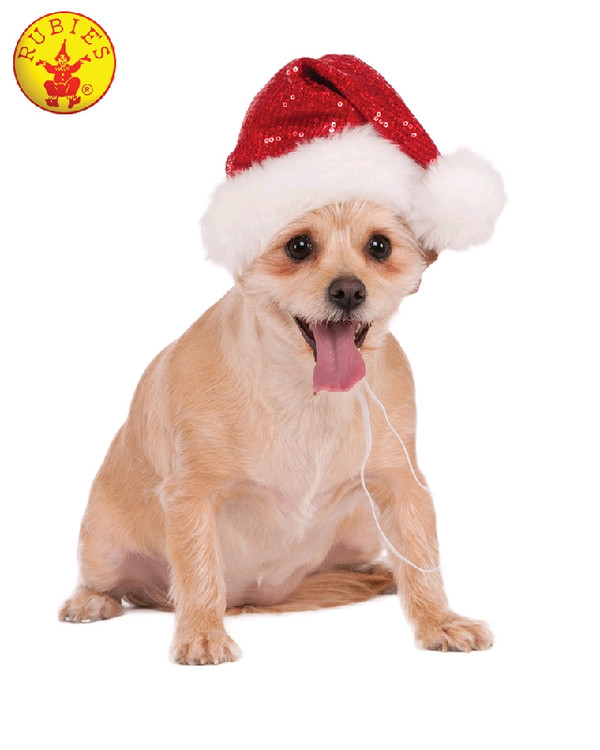 Santa Sequin Pet Hat