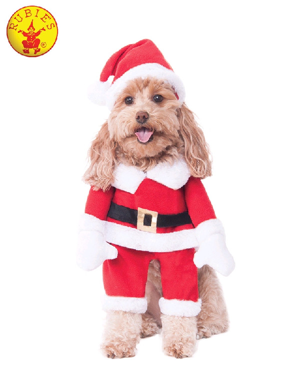 Santa Walking Santa Pet Costume