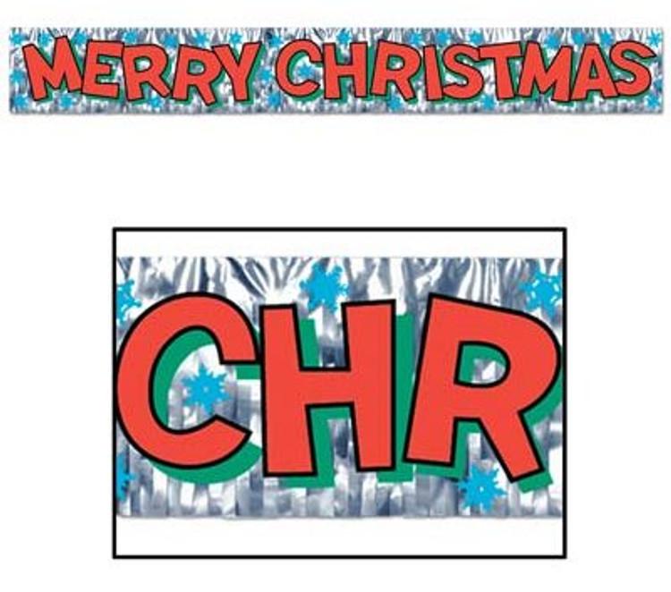Merry Christmas Banner Metallic