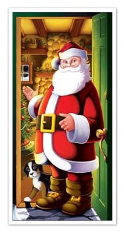 Christmas Door Cover Santa