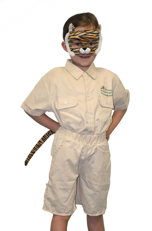 Tiger Animal Mask & Tail Set