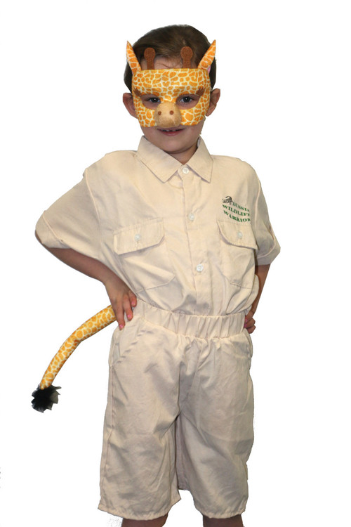 Giraffe Animal Mask & Tail Set