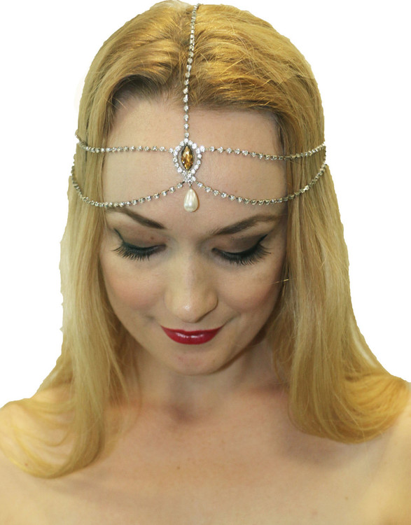 1920s Gatsby Headpiece Silver