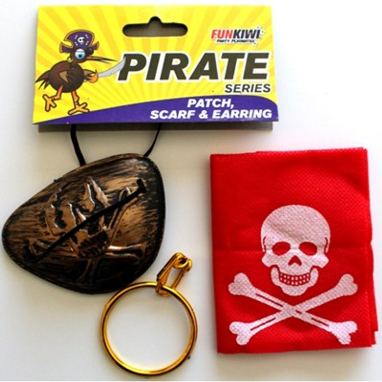 Pirate Eye Patch, Scarf & Earring