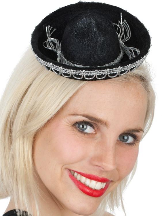 Sombrero Hat Mini Mexican - Black