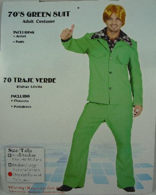1970's Safari Suit or Leisure Suit - Green